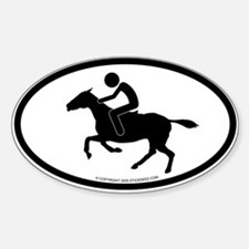 """""""Equestrian"""" - Oval Decal"""