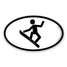 """Snowboarder"" - Oval Decal"