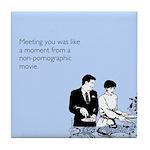 Meeting You Tile Coaster
