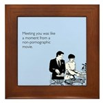 Meeting You Framed Tile