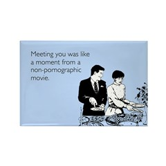 Meeting You Rectangle Magnet