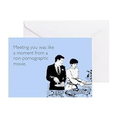 Meeting You Greeting Card