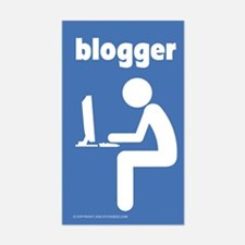 """""""Blogger"""" - Rectangle Decal"""