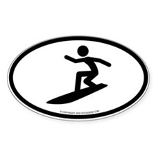 """Surfer"" - Oval Decal"