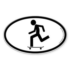 """""""Skater"""" - Oval Decal"""