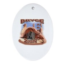 Zion,Bryce, and Arches Ornament (Oval)