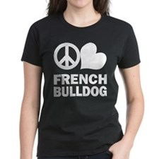 Peace Love French Bulldog Tee