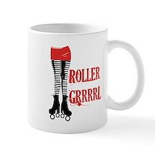 roller grrl leggy Small Mug