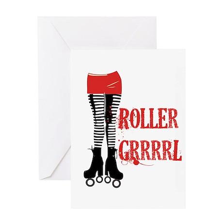 roller grrl leggy Greeting Card