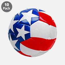 """USA Soccer Ball 3.5"""" Button (10 pack)"""