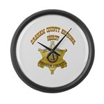 Graham County Sheriff Large Wall Clock