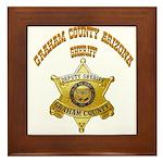 Graham County Sheriff Framed Tile