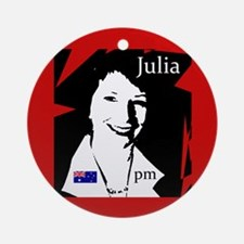 Julia Gillard Ornament (Round)