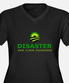 disaster we can ignore Women's Plus Size V-Neck Da