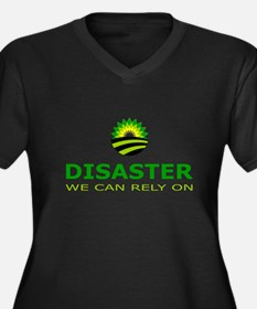 disaster we can rely on Women's Plus Size V-Neck D
