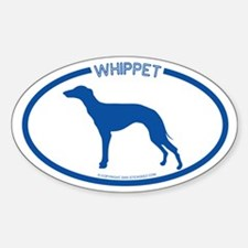 """""""Whippet"""" - Oval Decal"""