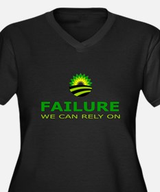 failure we can rely on Women's Plus Size V-Neck Da