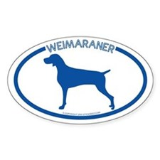 """Weimarner"" - Oval Decal"