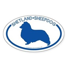 """Shetland Sheepdog"" - Oval Decal"