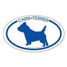 """Cairn Terrier"" - Oval Bumper Stickers"
