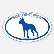 """Boston Terrier"" - Oval Decal"