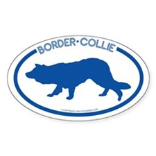 """""""Border Collie"""" - Oval Decal"""