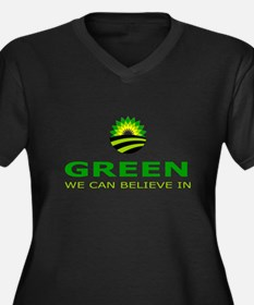 green we can believe in Women's Plus Size V-Neck D