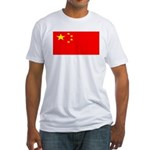 China Chinese Blank Flag Fitted T-Shirt