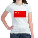 China Chinese Blank Flag Jr. Ringer T-Shirt