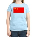 China Chinese Blank Flag Women's Pink T-Shirt