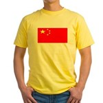 China Chinese Blank Flag Yellow T-Shirt