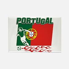 Portuguese soccer Rectangle Magnet