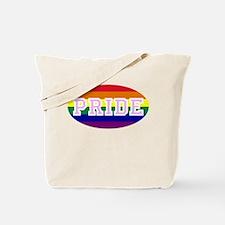 Peace Oval Rainbow Tote Bag