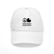 Peace Love German Shepherd Baseball Cap