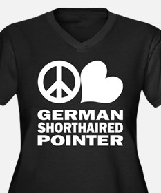 Peace Love German Shorthaired Pointer Women's Plus