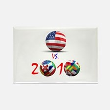 USA vs The World 2010 Rectangle Magnet