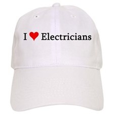 I Love Electricians Baseball Cap