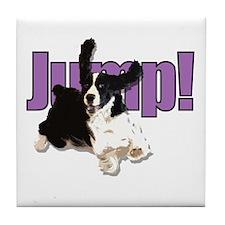 Cute Springer spaniels Tile Coaster