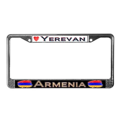 Yerevan, ARMENIA - License Plate Frame
