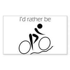 I'd Rather be Cycling Bumper Stickers