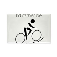 I'd Rather be Cycling Rectangle Magnet (100 pack)