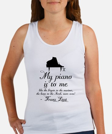 Franz Liszt Piano Quote Women's Tank Top
