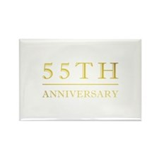 55th Anniversary Gold Shadowed Rectangle Magnet (1