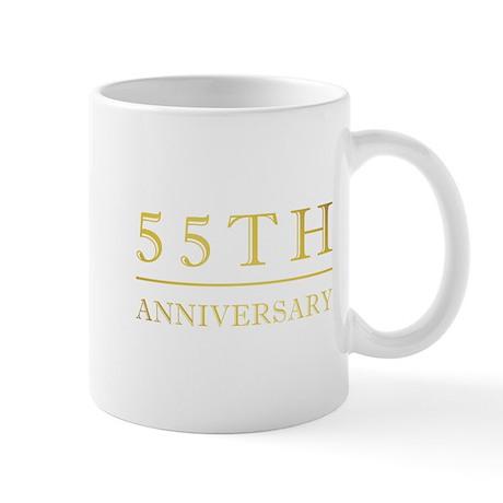 55th Anniversary Gold Shadowed Mug