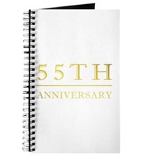 55th Anniversary Gold Shadowed Journal