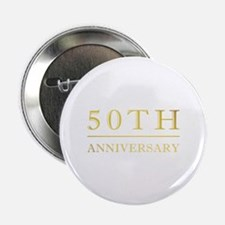 "50th Anniversary Gold Shadowed 2.25"" Button"
