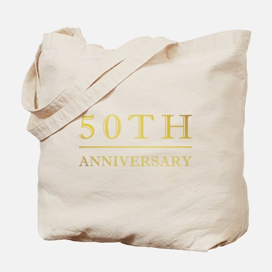 50th Anniversary Gold Shadowed Tote Bag
