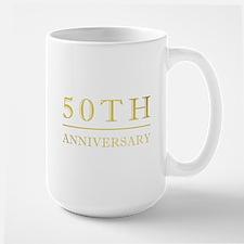 50th Anniversary Gold Shadowed Mug