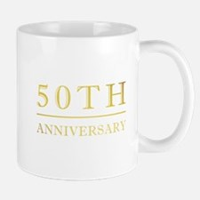 50th Anniversary Gold Shadowed Small Small Mug