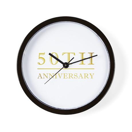 50th Anniversary Gold Shadowed Wall Clock